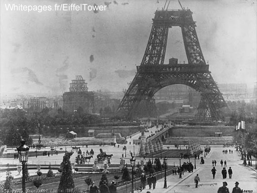 Eiffel Tower under construction