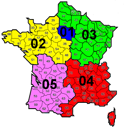 French Area codes